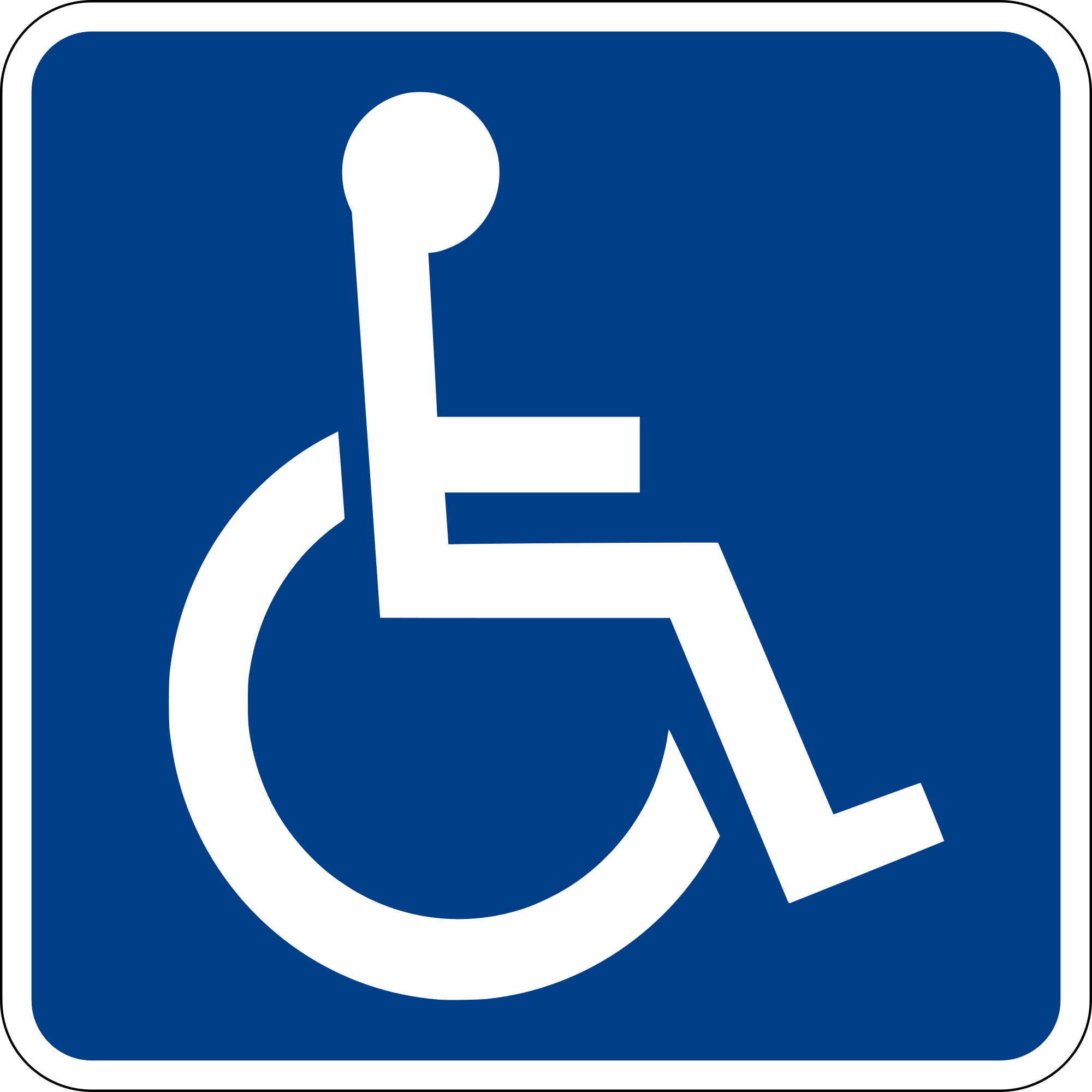 ADA symbol: wheelchair accessible